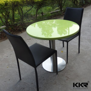 Small Size Dia600mm 2 Seaters Stone Dining Table pictures & photos