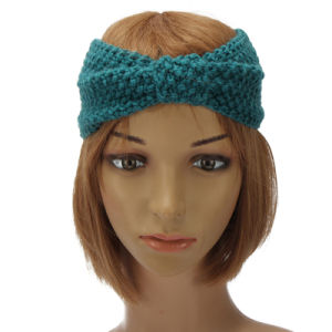 Winter Women Lady Ear Warmer Crochet Bowknot Turban Knitted Head Wrap Hairband Headband Headwear Hair Band Accessories pictures & photos