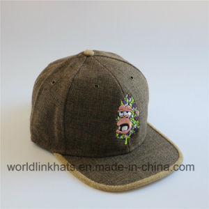 770919315ed China Linen Snapback Hat with Gold Embossed Metal Buckle - China ...