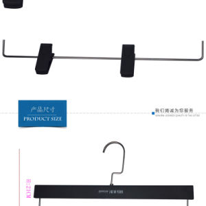 Manufature Trouser Brand Black Plastic Rubber Coating Custom Clips Hangers pictures & photos