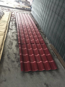 Unbreakable Waterproof Red Synthetic Resin PVC Roof Tile with ASA Coating pictures & photos