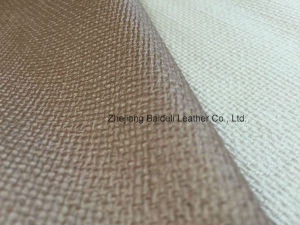 Woven Pattern PVC Upholstery Fabric for Sofa/Furniture/Home Interior Decoration pictures & photos
