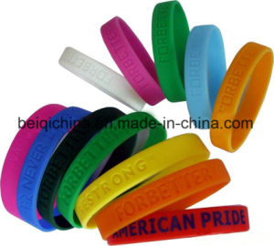 Fashion Sport Wholesale Custom Eco-Friendly Silicone Bracelet pictures & photos