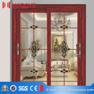 Aluminium Profile Double Glass Sliding Doors Interior/Exterior Panel Door
