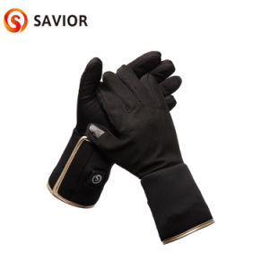 7.4V Rechargeable Battery Heating Glove Liner With Three Level Button Control Unisex Super Slim Liner pictures & photos