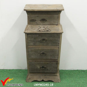Floral Carved 4 Drawers Wood Filing Cabinet pictures & photos