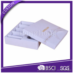 Plain White Luxury Paper Cosmetics Box with Tray Inserts