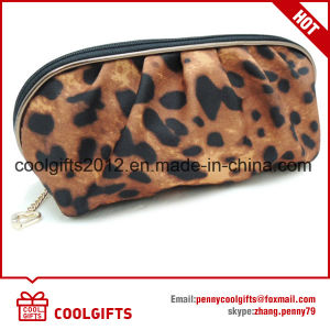 2016 New Fashion Leopard Satin Cosmetic Bag, Lady Makeup Bag pictures & photos