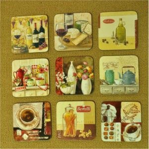 10*10cm Colors Printing Cup Coaster & Cup Mat pictures & photos