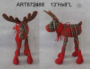 Posable Legged & Knitted Reindeer Christmas Gift pictures & photos