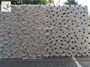 China uvg white flower wall backdrop with silk rose and hydrangea uvg white flower wall backdrop with silk rose and hydrangea for wedding stage decoration mightylinksfo
