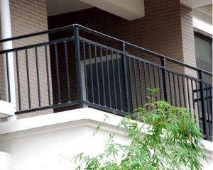 China Simple Design Of Black Balustrade Black Railing For Balcony