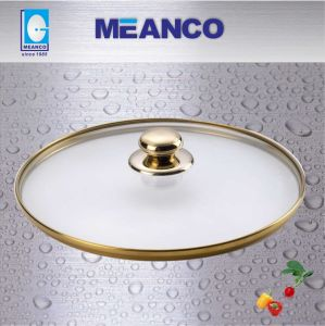 Golden Tempered Glass Lid, Glass Lid pictures & photos