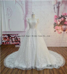 2017 New Design Collection Tulle Heavy Beading Wedding Dress Bridal Gown pictures & photos