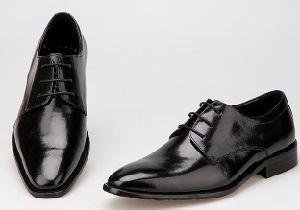 China Italian Mens Leather Black Formal