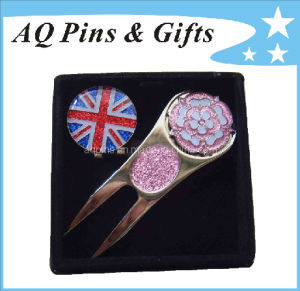 High Quality Golf Divot Set Souvenir in Epoxy & Glitter (Golf-08) pictures & photos