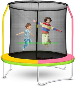 Trampoline for Kids with Enclosure Net Trampoline with Basketball Hoop Easy to Assemble Little Tikes Trampoline Personal Indoor Trampoline for Kids