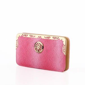 Front Metal Logo OEM Purse Lady′s Wallet Bag (MBNO037156) pictures & photos