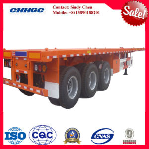 3axles 1*40ft 2*20ft 1*20ft Flatbed Container Trailer / Flat Top Semi Trailer
