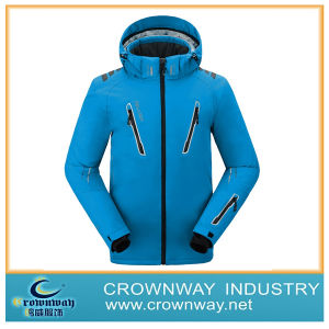 Men′s Majestic Red Ski Jacket with Adjustable Hood (CW-MSKIW-71) pictures & photos
