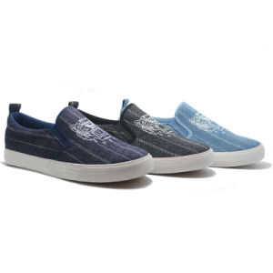 Denim Printing Fashion Basic Casual Student Women Men Kids Low Shoes pictures & photos