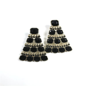 New Item Black Resin Acrylic Fashion Jewellery Earring