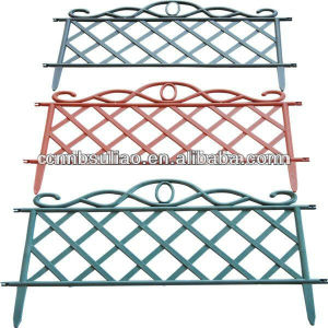 Decorative Plastic Garden Fence, Firm And Colorful Plastic Fence