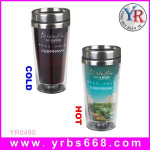 Hot New Products for 2015 Factory Wholesale Price Color Changing Double Wall Stainless Steel Mug
