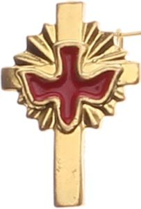 Cross Color Painted Lapel Pin