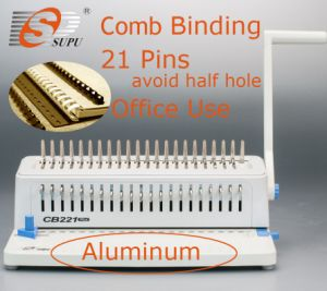 Manual Office Equipment Book Binder Comb Binding Machine for Book Punching and Binding with 21pins (CB221plus) pictures & photos