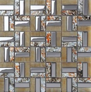 Glass Mix Stainless Steel Tile Home Wall Decoration pictures & photos
