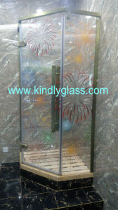 Colorful Silk Screen Bathroom Tempered Glass