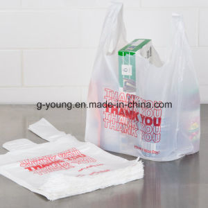 Plastic Thankyou T-Shirt Bag Shopping Bag