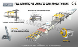 PVB Bullet-Proof Laminated Glass Production Line pictures & photos