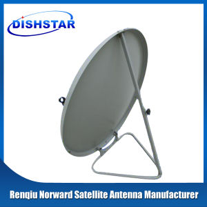 Ku Band 100cm Satellite Dish Antenna with Ground Mount Base