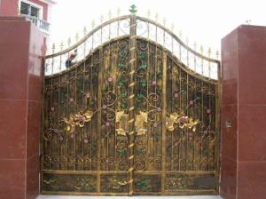 Decorative Main Wrought Iron Gate Design pictures & photos