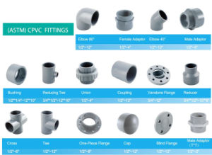 "1*3/4"" 1-1/4*1/2"" 1-1/4*3/4"" 1-1/4*1"" ANSI Sch80 CPVC Adaptor Reducer pictures & photos"