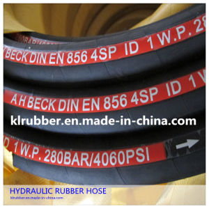 SAE100 R2at/2sn Steel Wire Braided Hydraulic Rubber Hose with Hydraullic Fitting