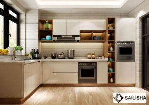 Netherland Modern Home Hotel Furniture Island Wood Kitchen Cabinet pictures & photos