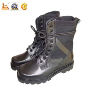 Hot Sale Police Equipment Half Leather Riot Boots for Military pictures & photos