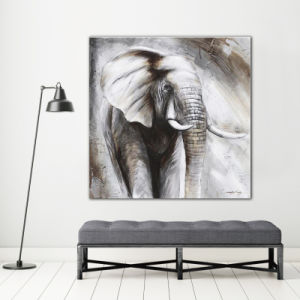 Black and White Elephant Oil Painting