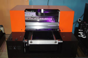 New Design 6 Multicolor LED Flatbed UV Printer for Phone Case/Glass/Ceramic/Wood/Plastic/Leather/PVC/Ktboard