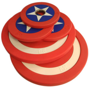 2017 Captain America PU Weight Plate (SA16-C) pictures & photos