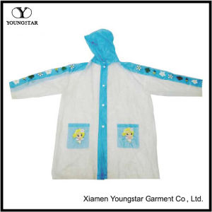 EVA Cartoon Design Rain Coat for School Children pictures & photos