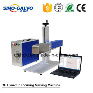 3D Laser Mrking Machine Sg7210-3D for Marking on Shoes Leather