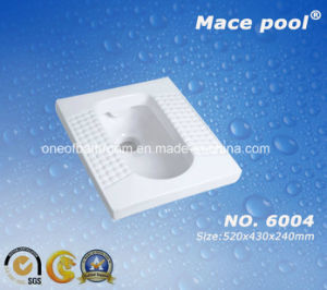 Ball Type Two-Piece Bathroom Water Closet Ceramic Squatting Pan (6004) pictures & photos