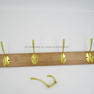 High-Grade Beautiful Clothes Hooks Wooden & Metal Row Hooks (ZH-7001)