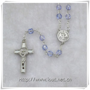 Hot Sale High Quality Rosary Beads Style Religious Chains Cross Necklace (IO-cr350) pictures & photos
