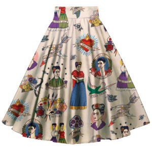 Vintage Retro Style Frida Printed Pleased Ladies Umbrella All-Match Skirts pictures & photos
