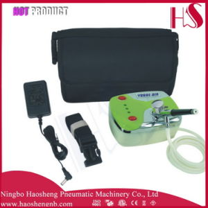 HS08-3AC-Skc Dual-Action Gun Airbrush Kit Air Compressor Tattoo Nail Art Paint Hobby Cake Set pictures & photos